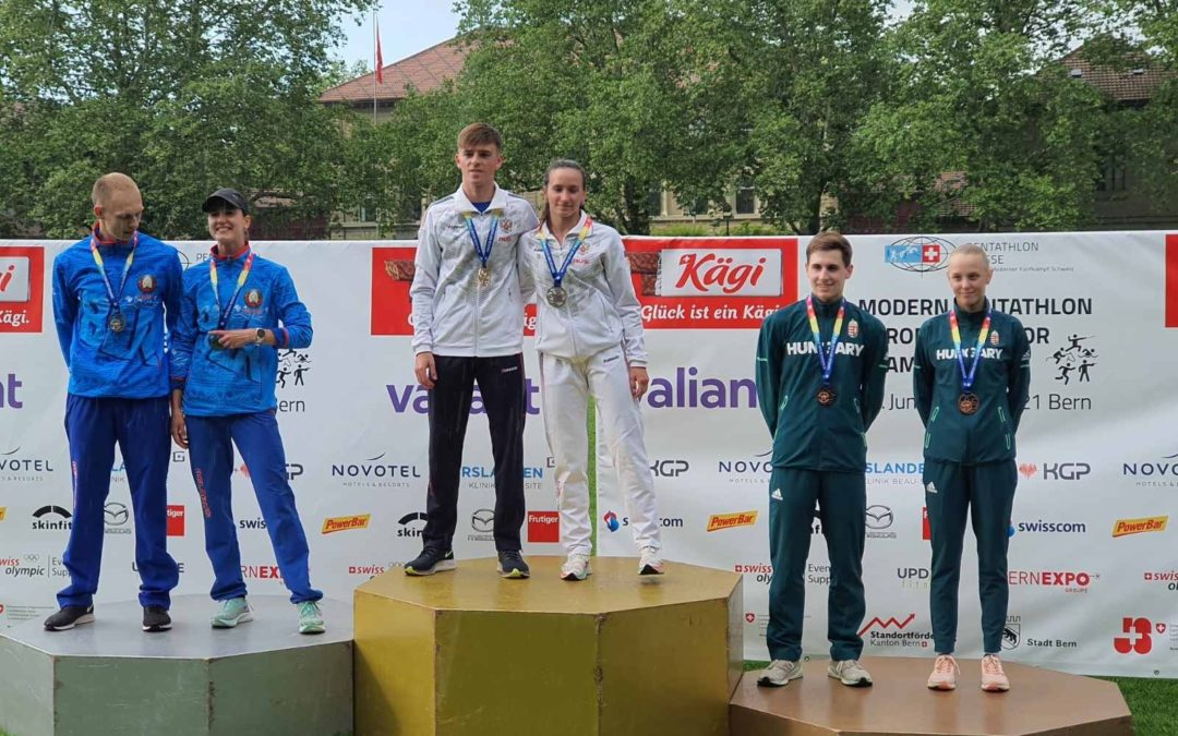 Gáll András bronzérmes lett mix váltóban a Junior Eb-n